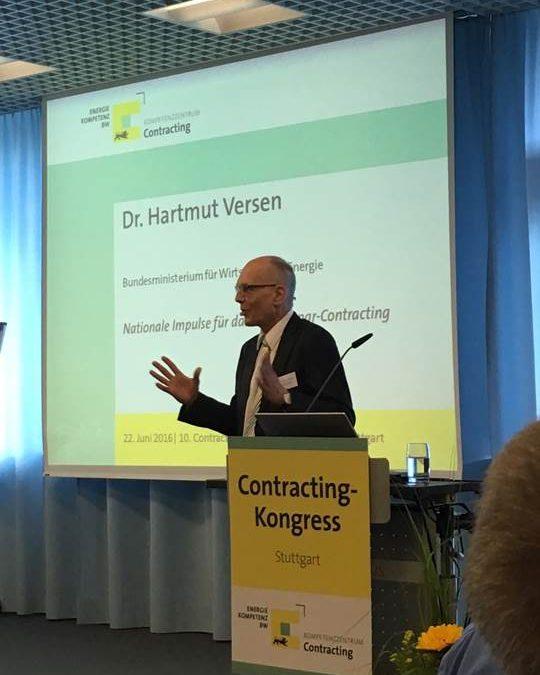 Bohres auf dem Contracting-Kongress in Stuttgart